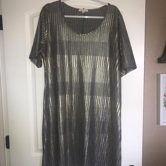 Paper Planet Dresses | Metallic Plus Size Dress | Poshmark